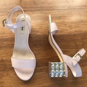 Dune London Shoes - Bejeweled block heel sandal